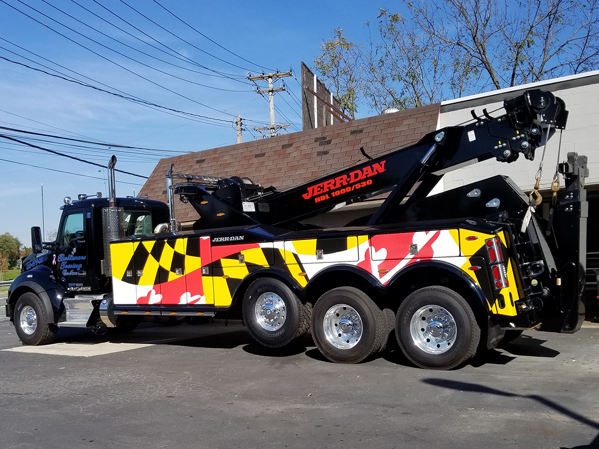 Commercial Wrap on Crane