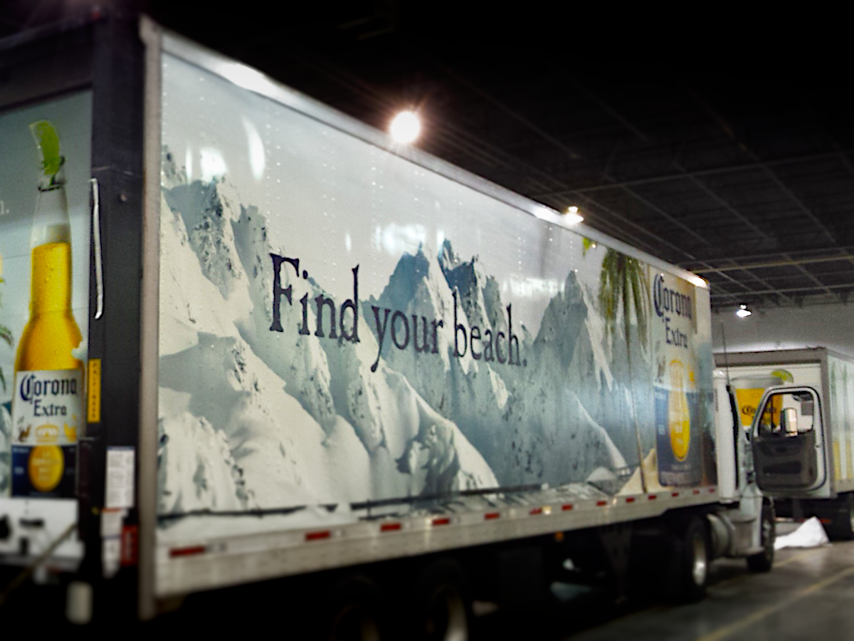 Commercial Vehicle Wrap on Semi Truck
