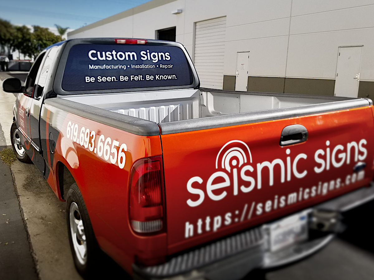 Seismic Signs Full Vehicle Wrap on Ford F150