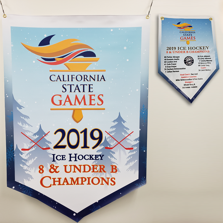 Mini Championship Banner with Team Roster